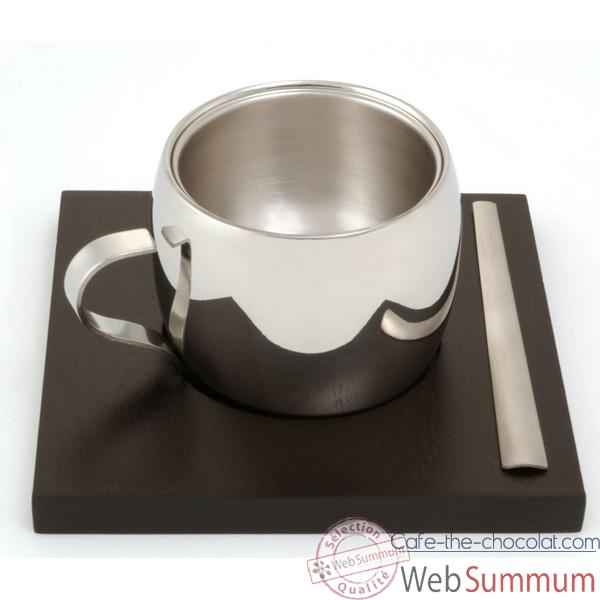 autrement chocolat tasse expresso tramontina inox dans. Black Bedroom Furniture Sets. Home Design Ideas