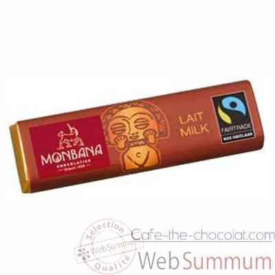 Presentoir de 30 barres chocolatees lait Monbana -11910058