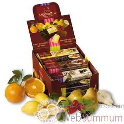 Pack 30 barres chocolatees aux fruits Monbana -11910050