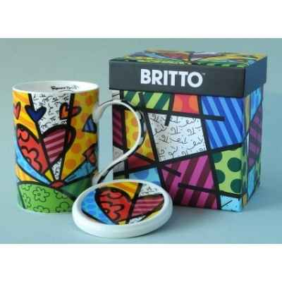 Mug et sa coupelle new day britto romero -b334233