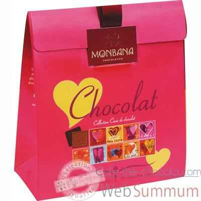 Lot de 6 etuis chocolat Collection Cœur de chocolat Monbana -11180046
