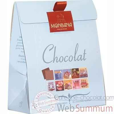 Lot de 6 etuis chocolat Collection Paris Monbana -11180045
