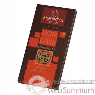 Presentoir 12 tablettes chocolat noir aux feves cacao Monbana -11910005