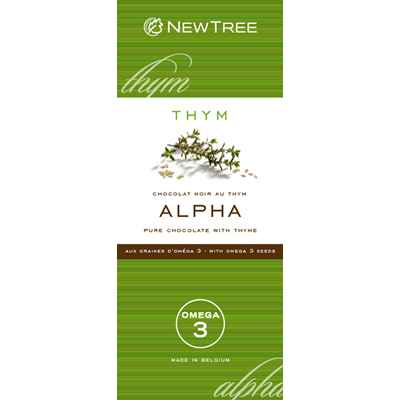 Newtree-Chocolat Alpha Noir Thym, tablette 80g-341866