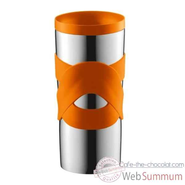 Bodum travel mug 0.45 l etanche inox orange  -004936