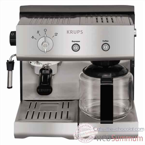 krups combin expresso et cafeti re inox 002356 de cuisine dans cafeti re. Black Bedroom Furniture Sets. Home Design Ideas