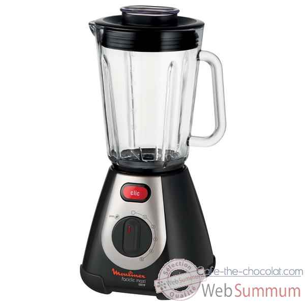 Moulinex blender noir - faciclic maxi glass Cuisine -11515