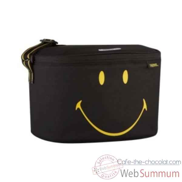 Thermos sac isotherme 5 l facon liner noir - smiley lunch -006781