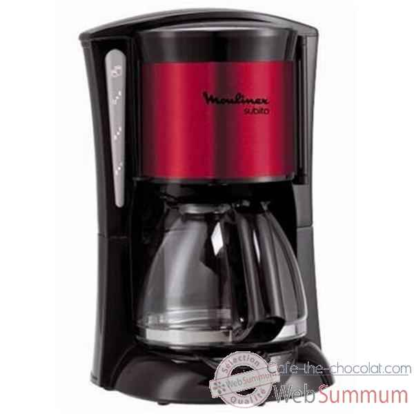 Moulinex cafetiere filtre 15 tasses rouge inox - subito 3201