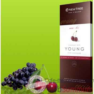 Video Newtree-Chocolat Noir Young Cerise, tablette 80g-341033